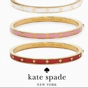New Kate Spade spot the spade enamel hinged bangle